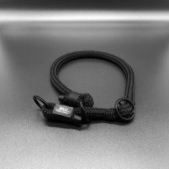 Halsband mit Zugstopp Elementar schwarz
